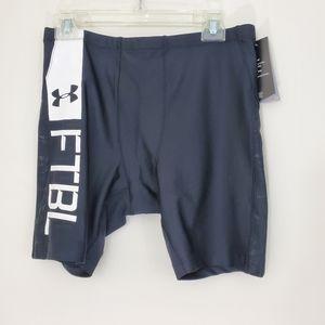 Under Armour Black Compression FTBL shorts, XL,